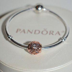 Pandora Cinderella Coach Charm Rose Gold